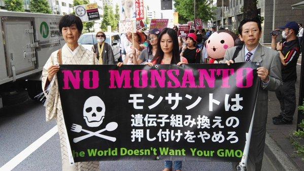 日本 モンサント社 デモ
