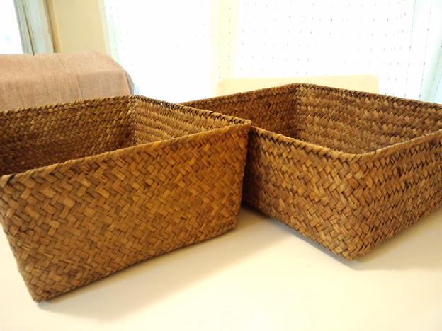 スリーコインズのおしゃれな木編み収納バスケット シリーズ