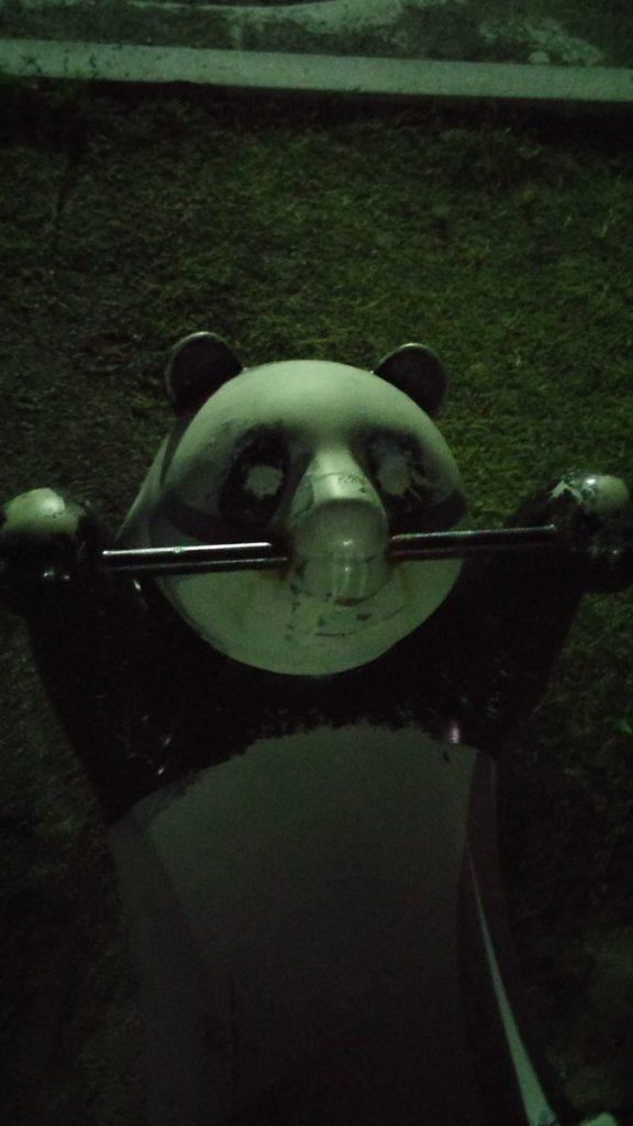 怖いパンダの遊具