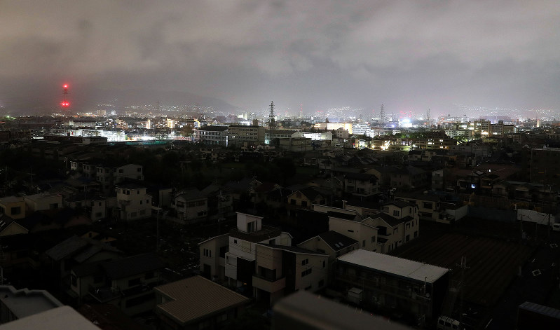 台風の影響 停電地域
