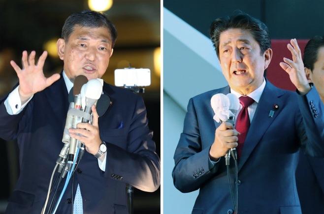 安倍晋三首相 石破茂元幹事長