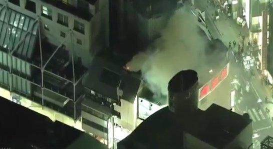 ハロウィン 渋谷センター街 火災