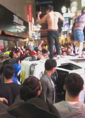 渋谷ハロウィン車をひっくり返す暴動 犯人