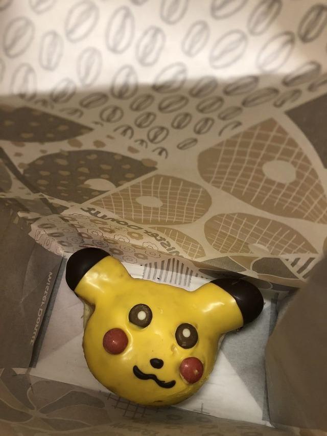 【納得】ミスタードーナツ販売の『ピカチュウドーナツ』があまりに崩壊し過ぎて販売停止へ