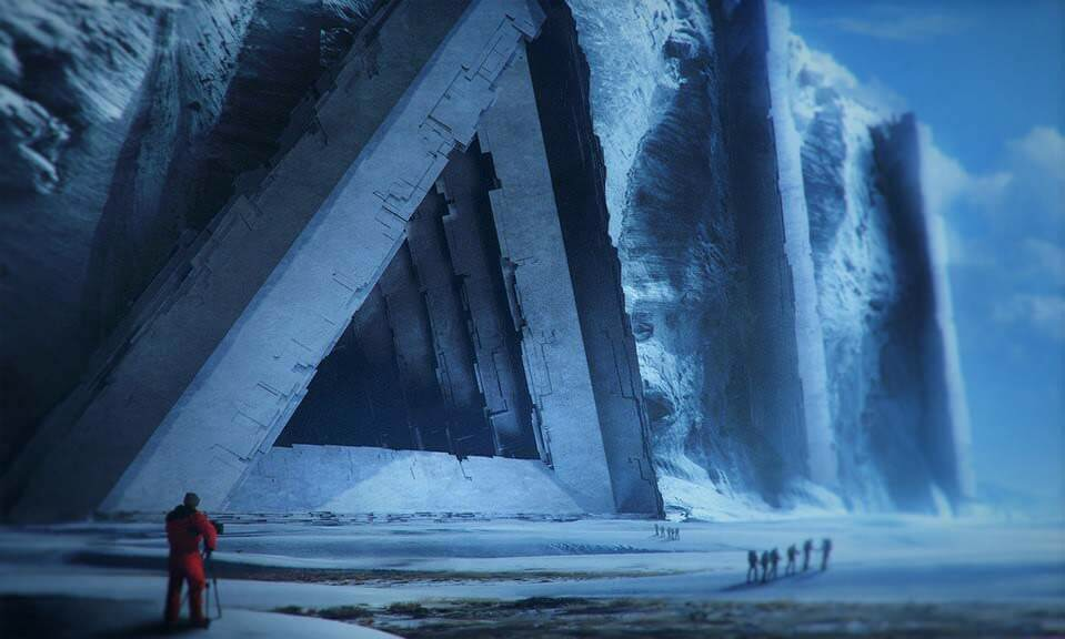 南極古代都市