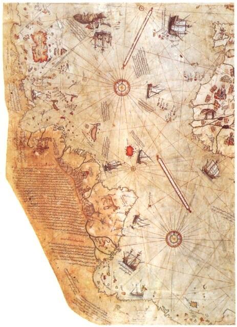 南極 ピリー・レイスの地図