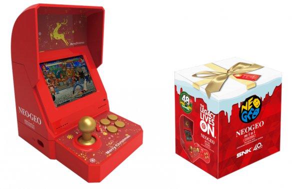 【限定版】「NEOGEO mini クリスマス」赤いクリスマス仕様で初収録9タイトルも追加!