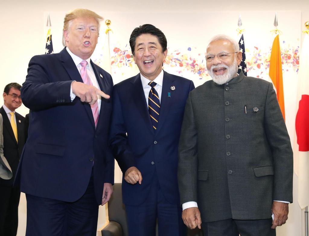 【なごやか】G20日米印首脳会談の様子がめっちゃ楽しそうだと話題にwww