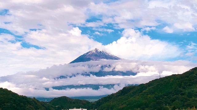 即位礼正殿の儀 富士山