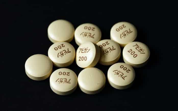 アビガンについてコロナウィルスに有効性の確認がとれなかったとある